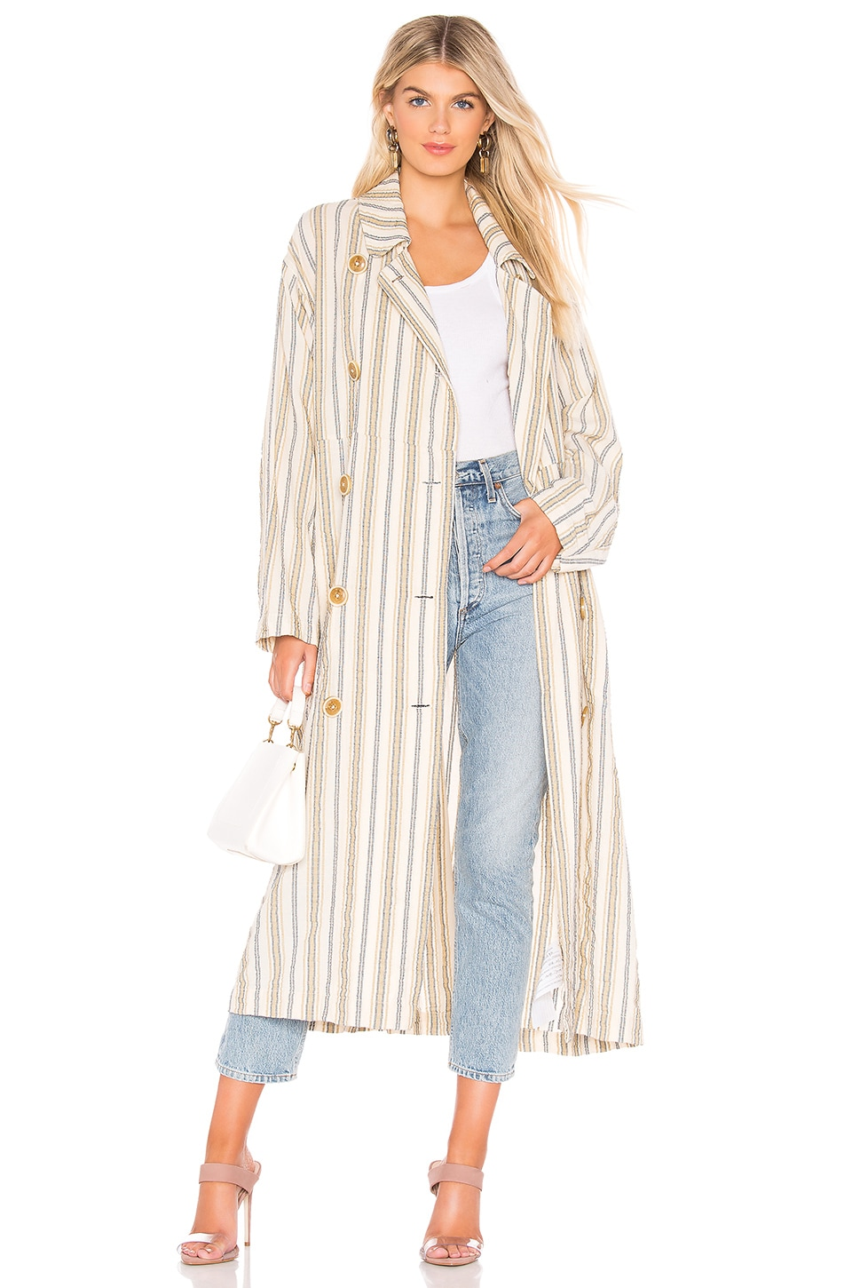 Free People Sweet Melody Trench in Neutral Combo