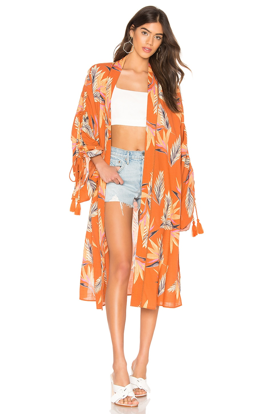 Free People Read My Palm Kimono in Terracotta