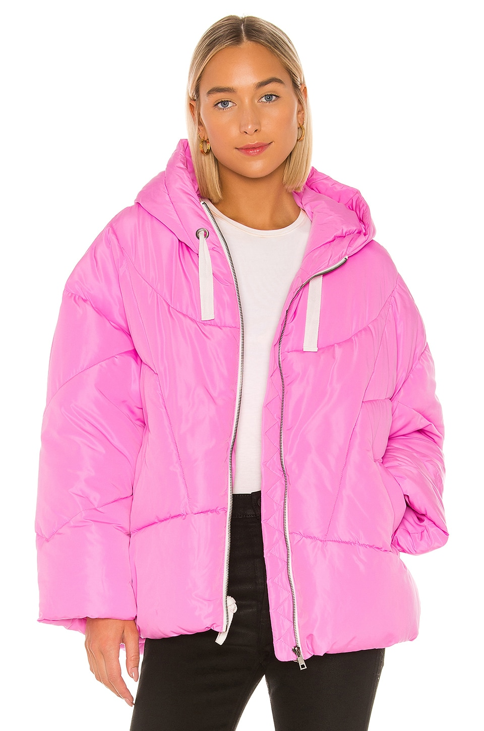 Free People Hailey Puffer in Pink