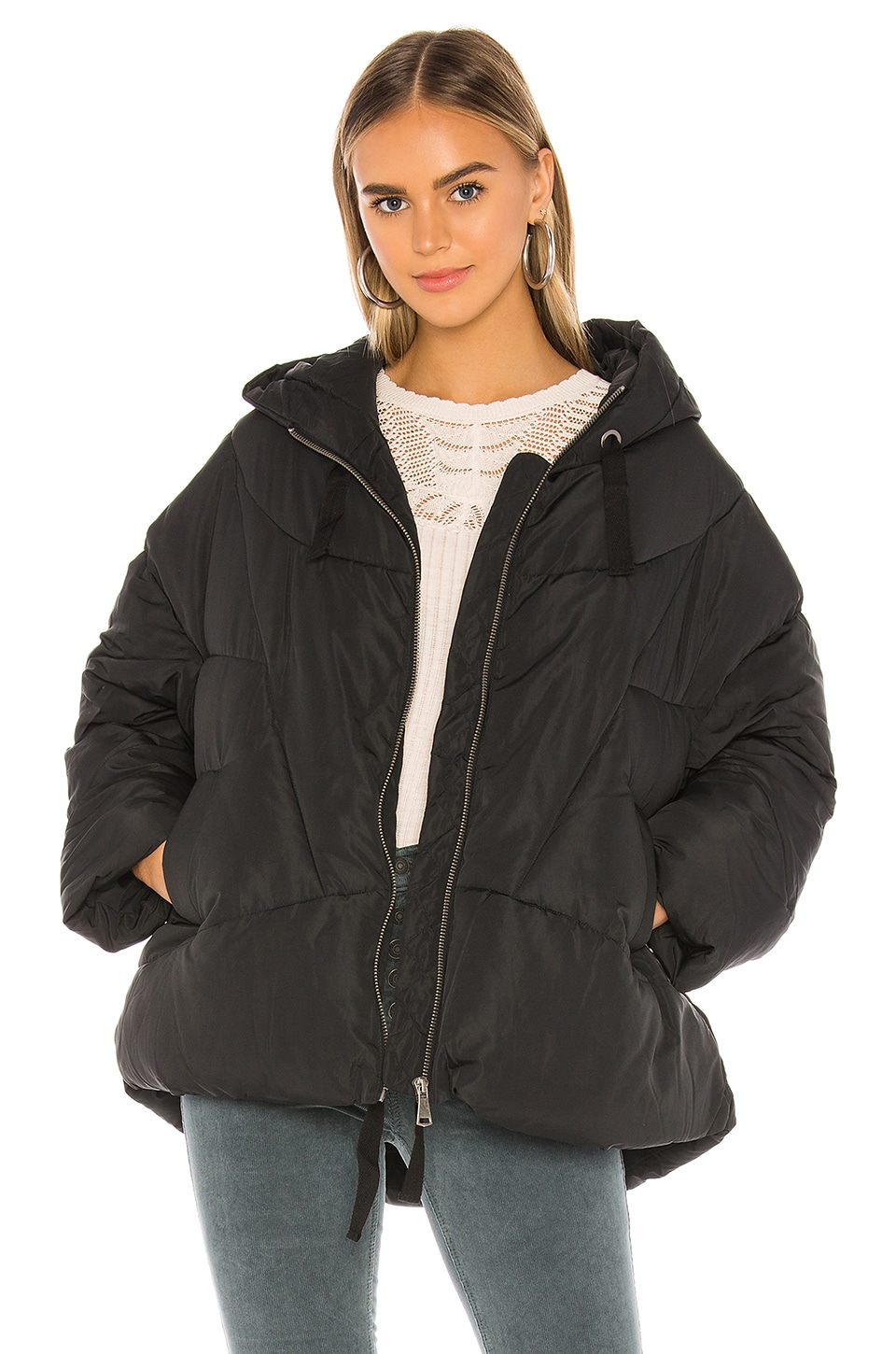 Free People Hailey Puffer in Black