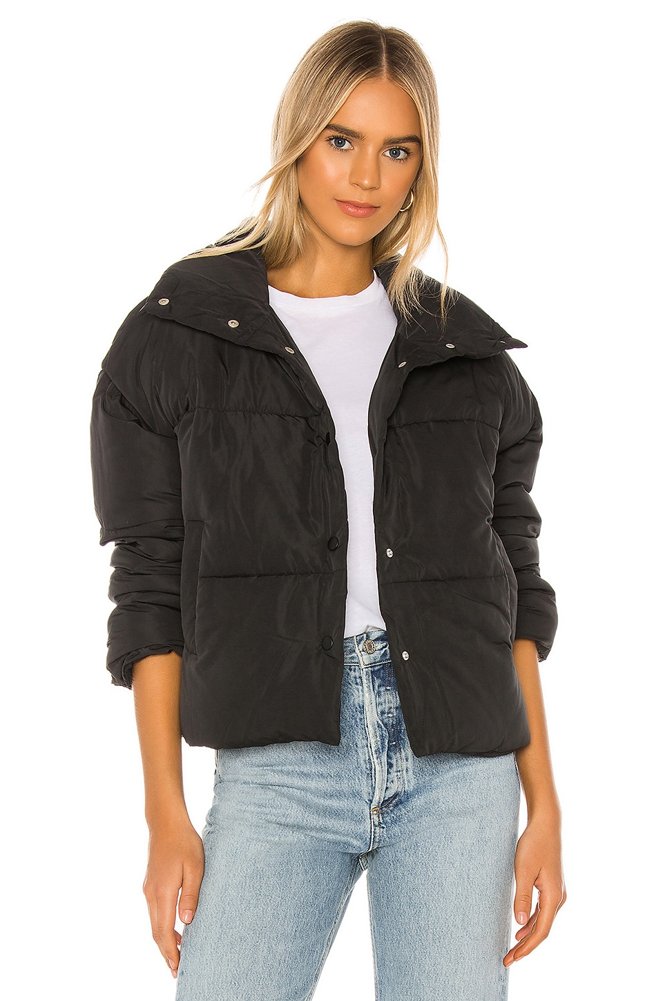 Free People Weekend Puffer in Black