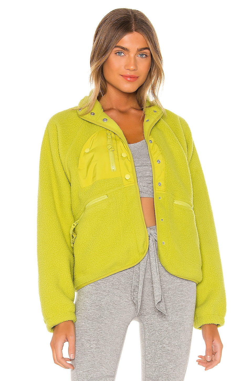 Free People X FP Movement Hit The Slopes Jacket in Lime