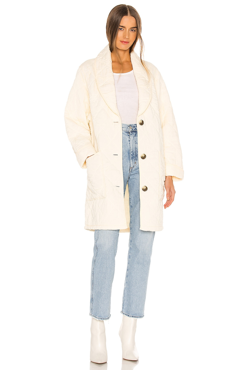 Free People Happy Day Dreamer Jacket in Ivory