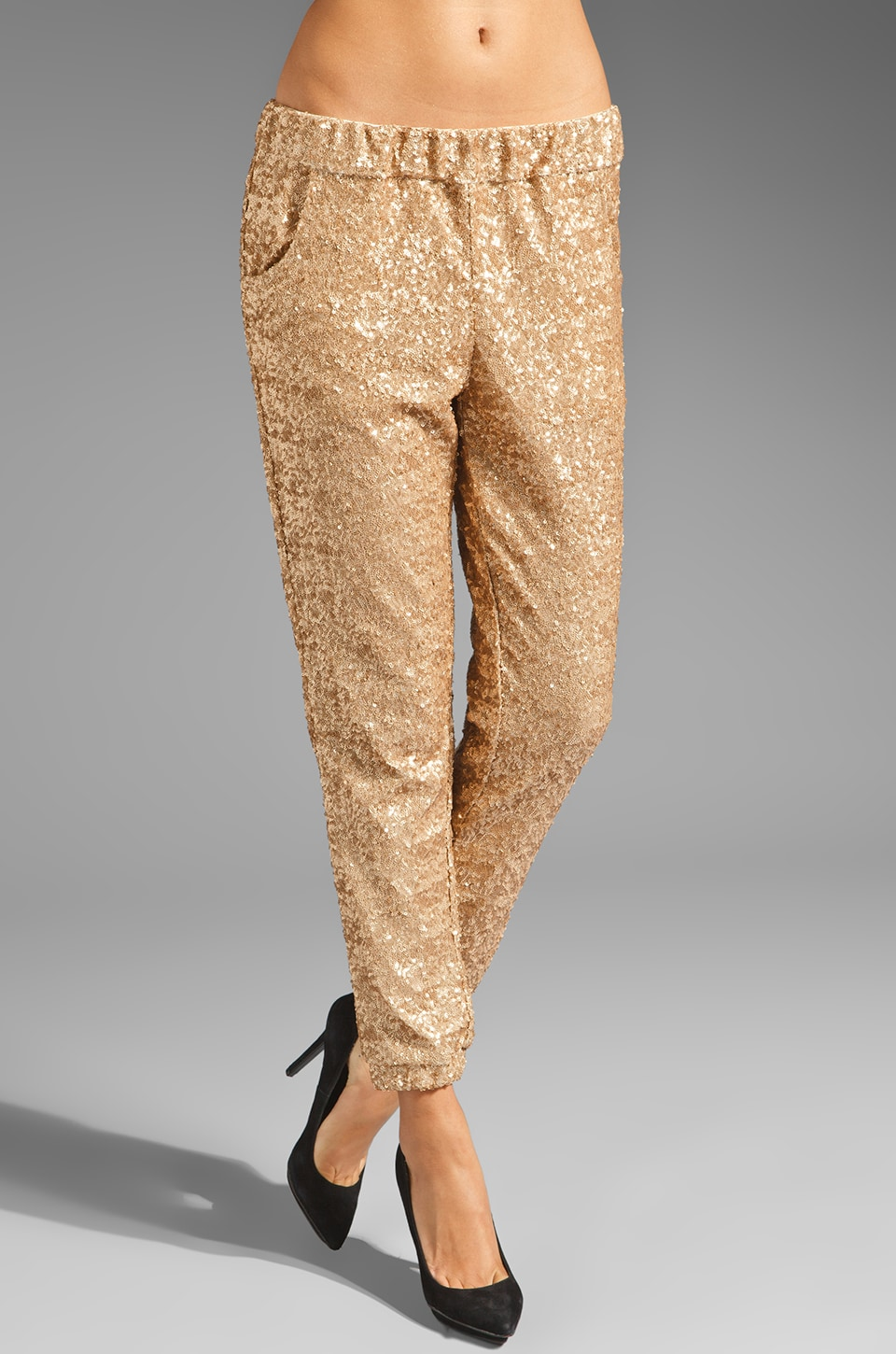 Free People Sequin Party Pant in Champagne