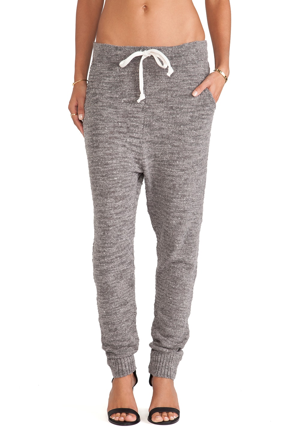 Free People Sweater Harem Pant in Charcoal Grey