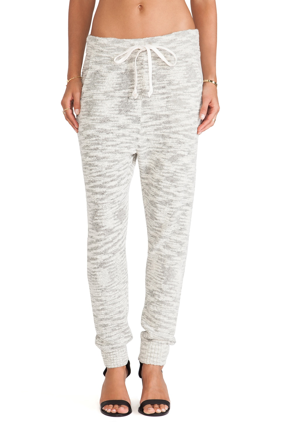 Free People Sweater Harem Pant in Light Grey