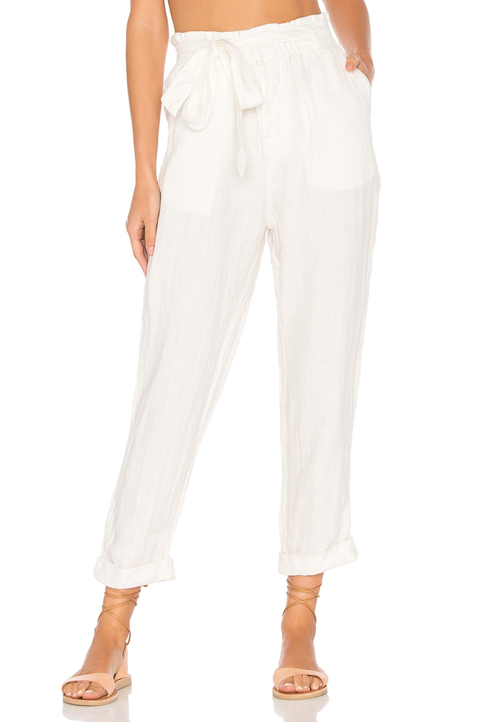 Free People Paper Bag Pant in Neutral