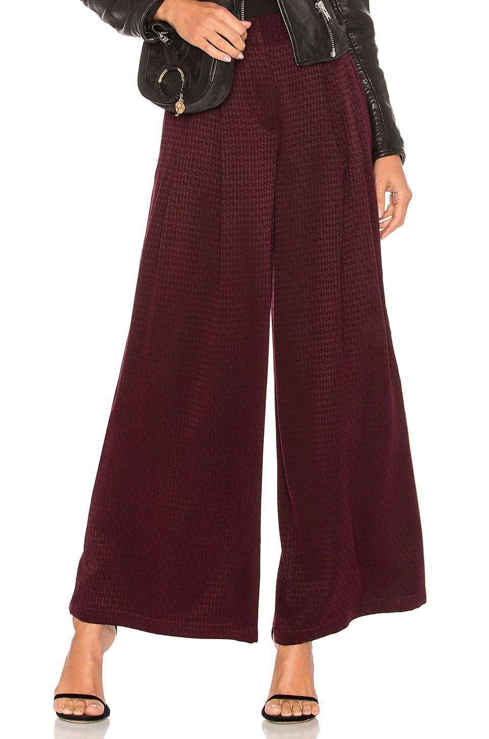 Free People Wide Leg Pant in Wine