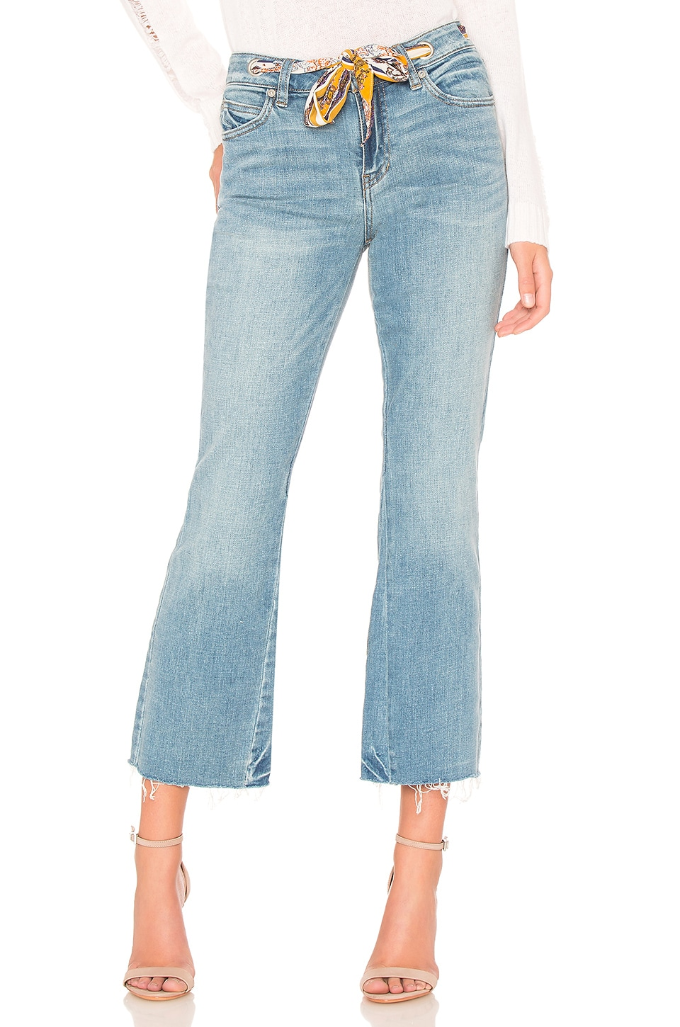 Free People Belt Out Crop Bootcut in Blue