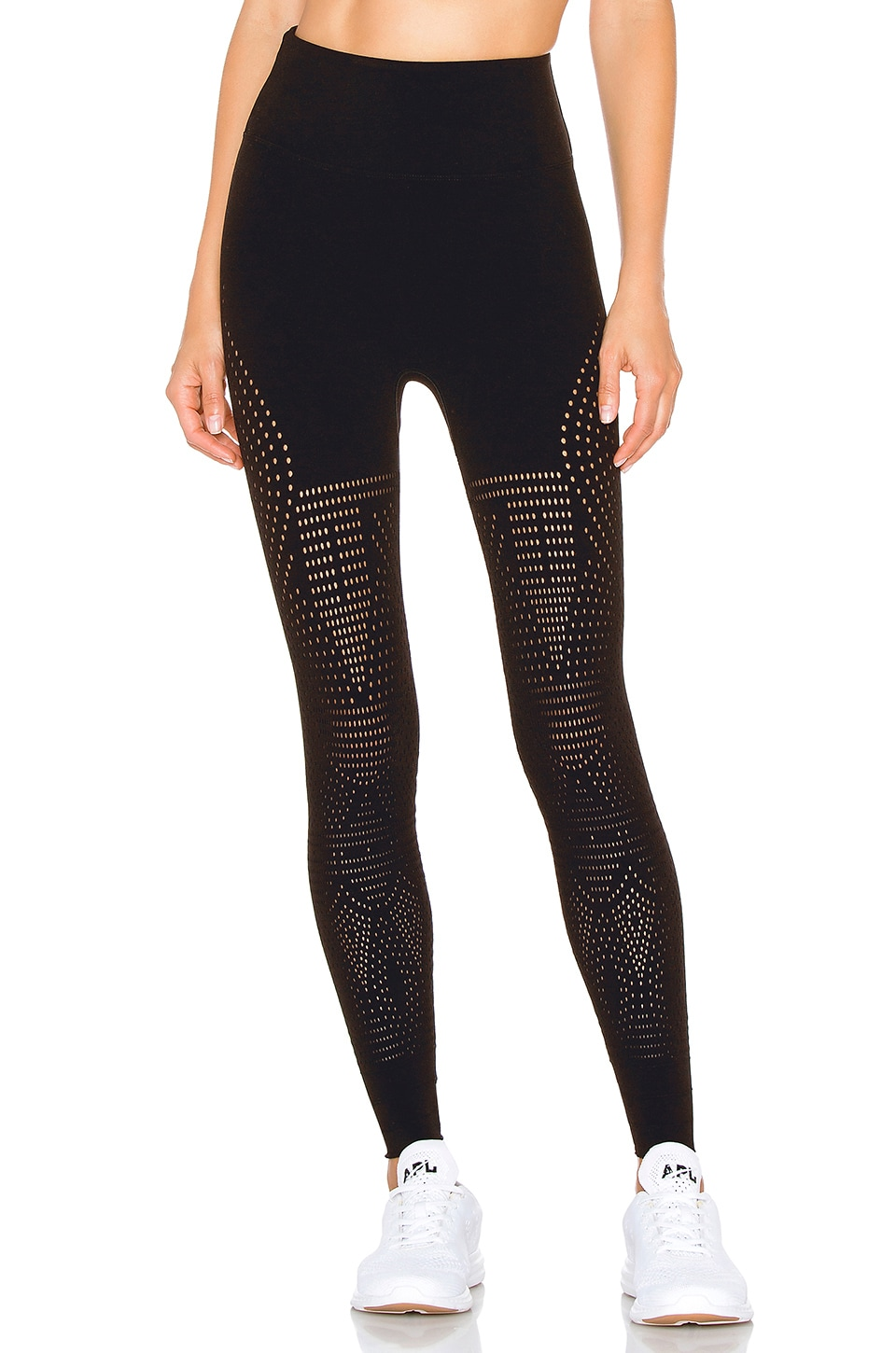 Free People Movement High Rise Adjustable Length Ecology Legging in Black