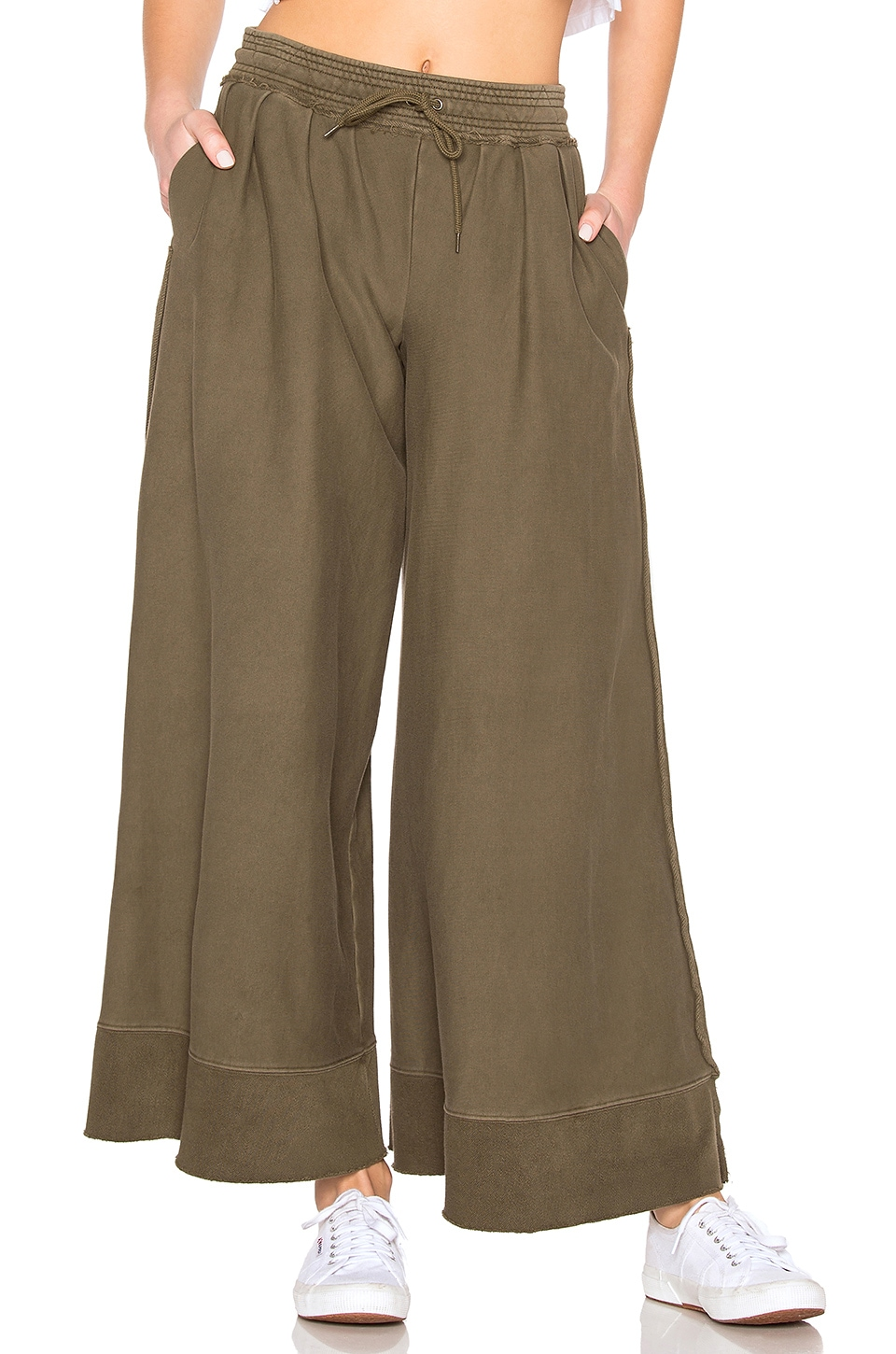 Free People Movement Rocco Wide Leg Pant in Army