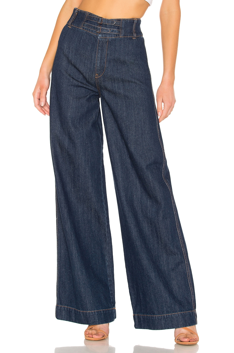 Free People Big Bell Jean in Dark Denim