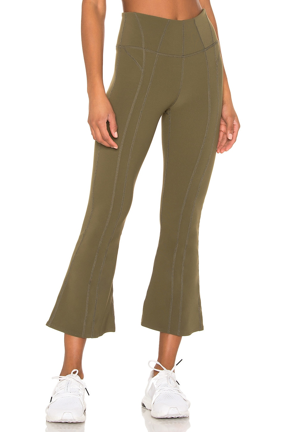 Free People X FP Movement High Rise Lyla Flare in Army