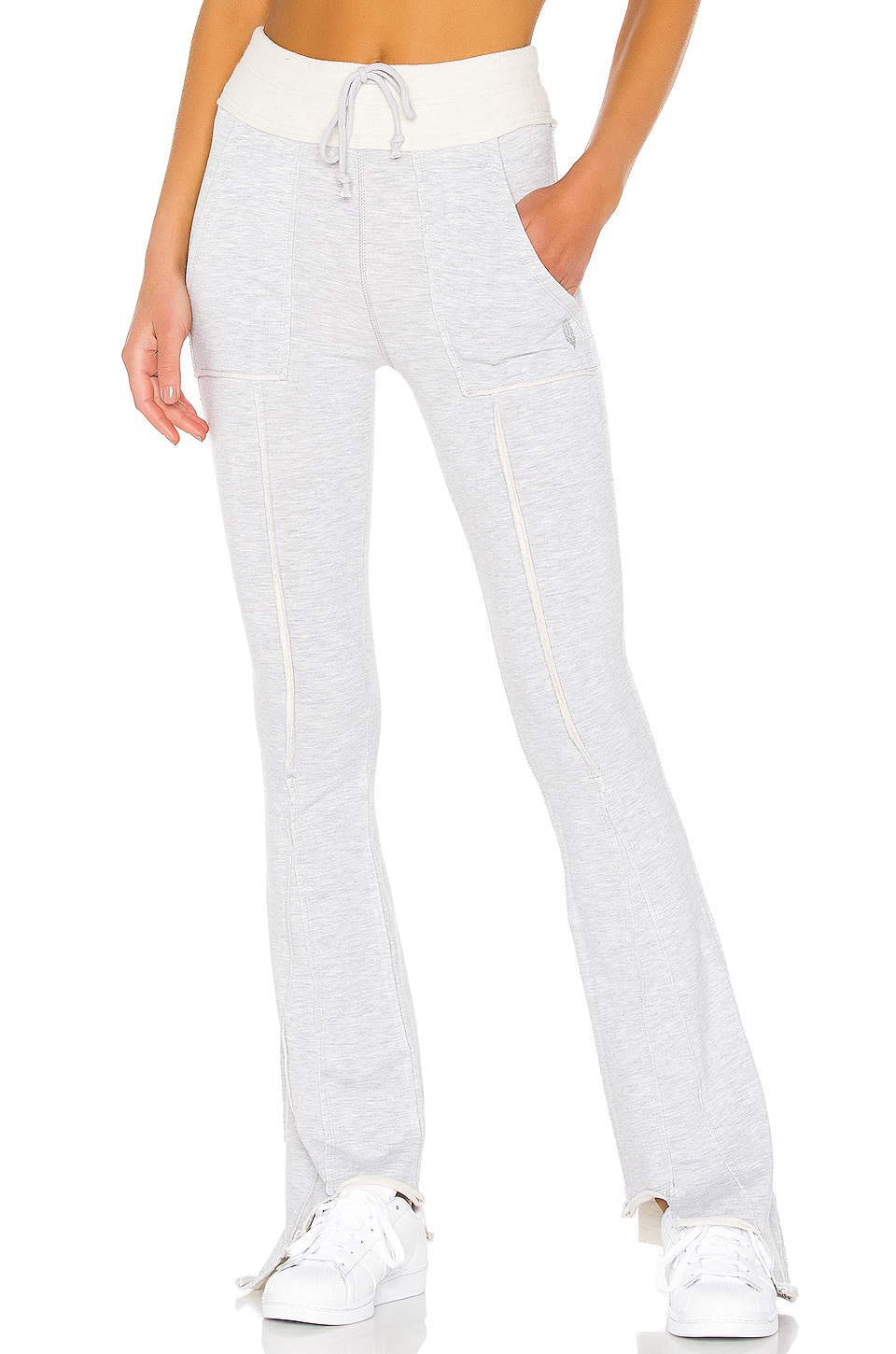 Free People Movement Quick Jab Flare Pant in Grey Combo
