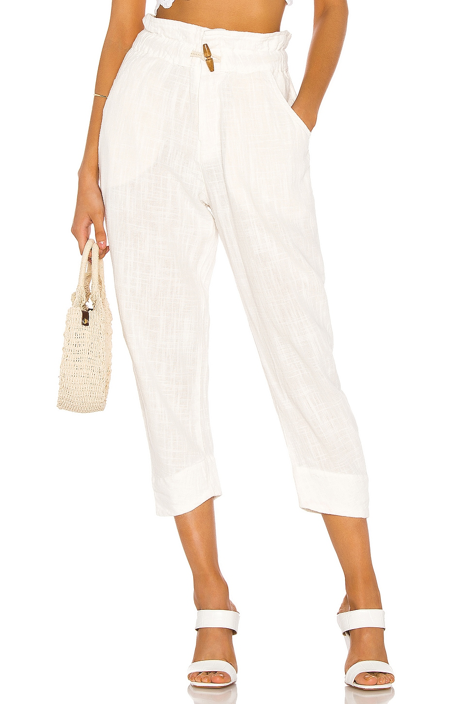 Free People Paradise Pant in Cream