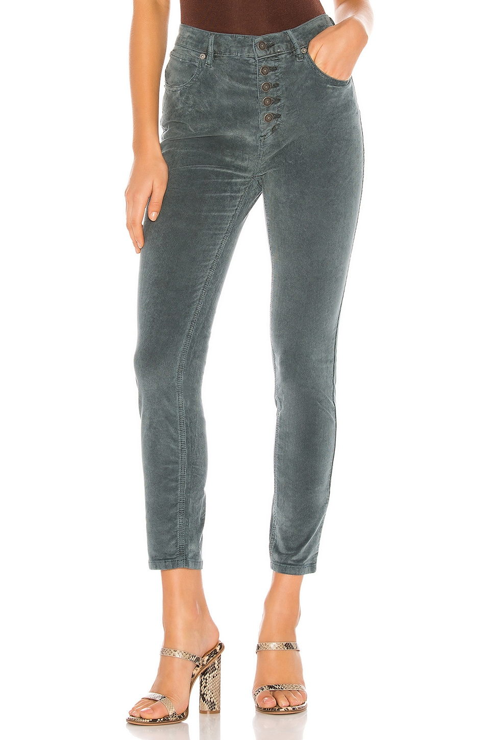 Free People Sun Chaser Cord Skinny in Navy