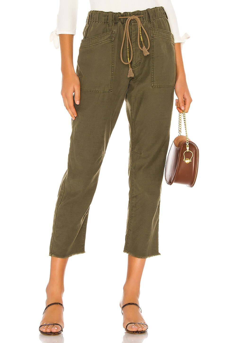 Free People Drawn Up Boyfriend Pant in Army