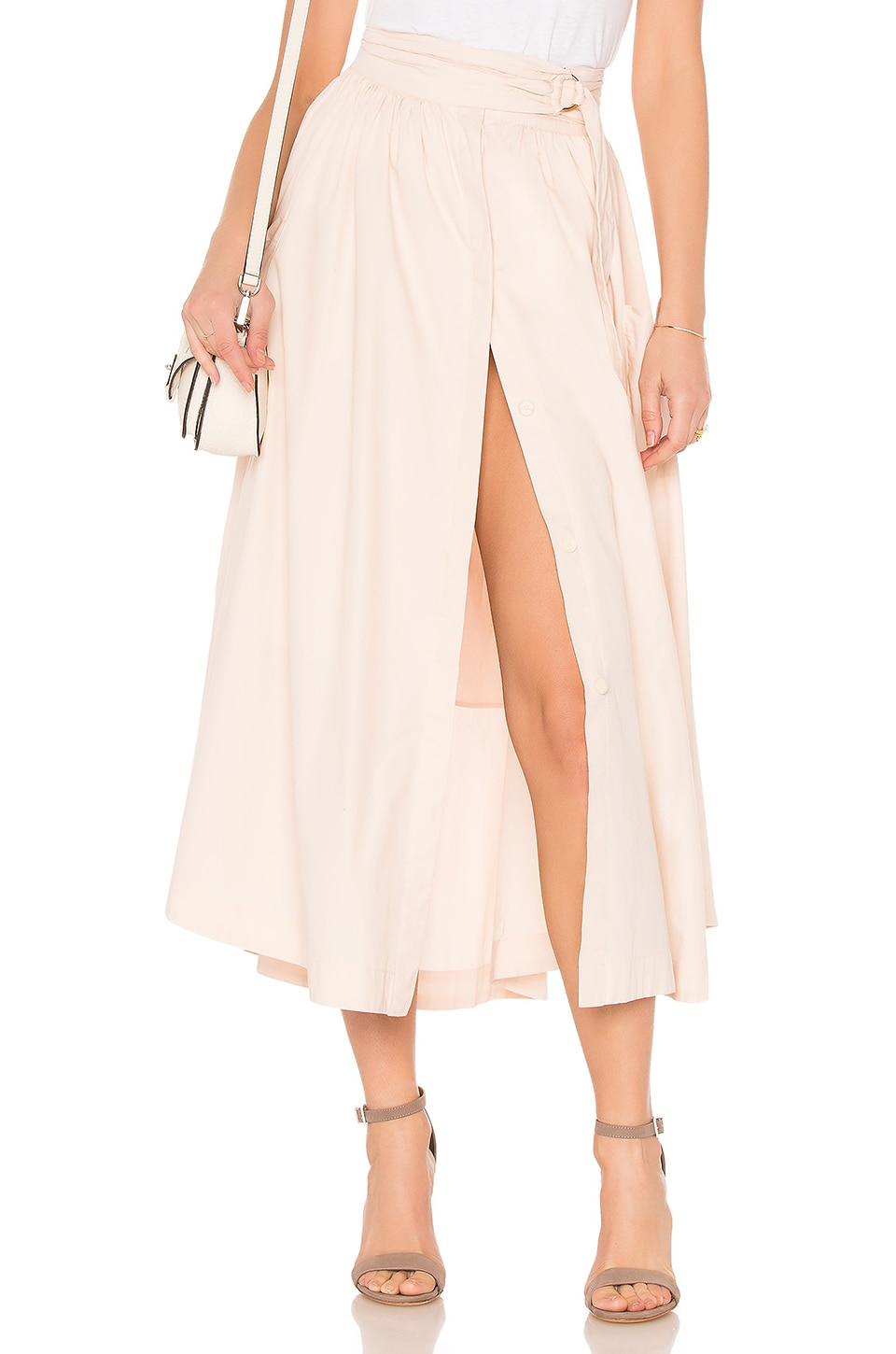 a246a24088 Free People Dream of Me Midi Skirt in Taupe
