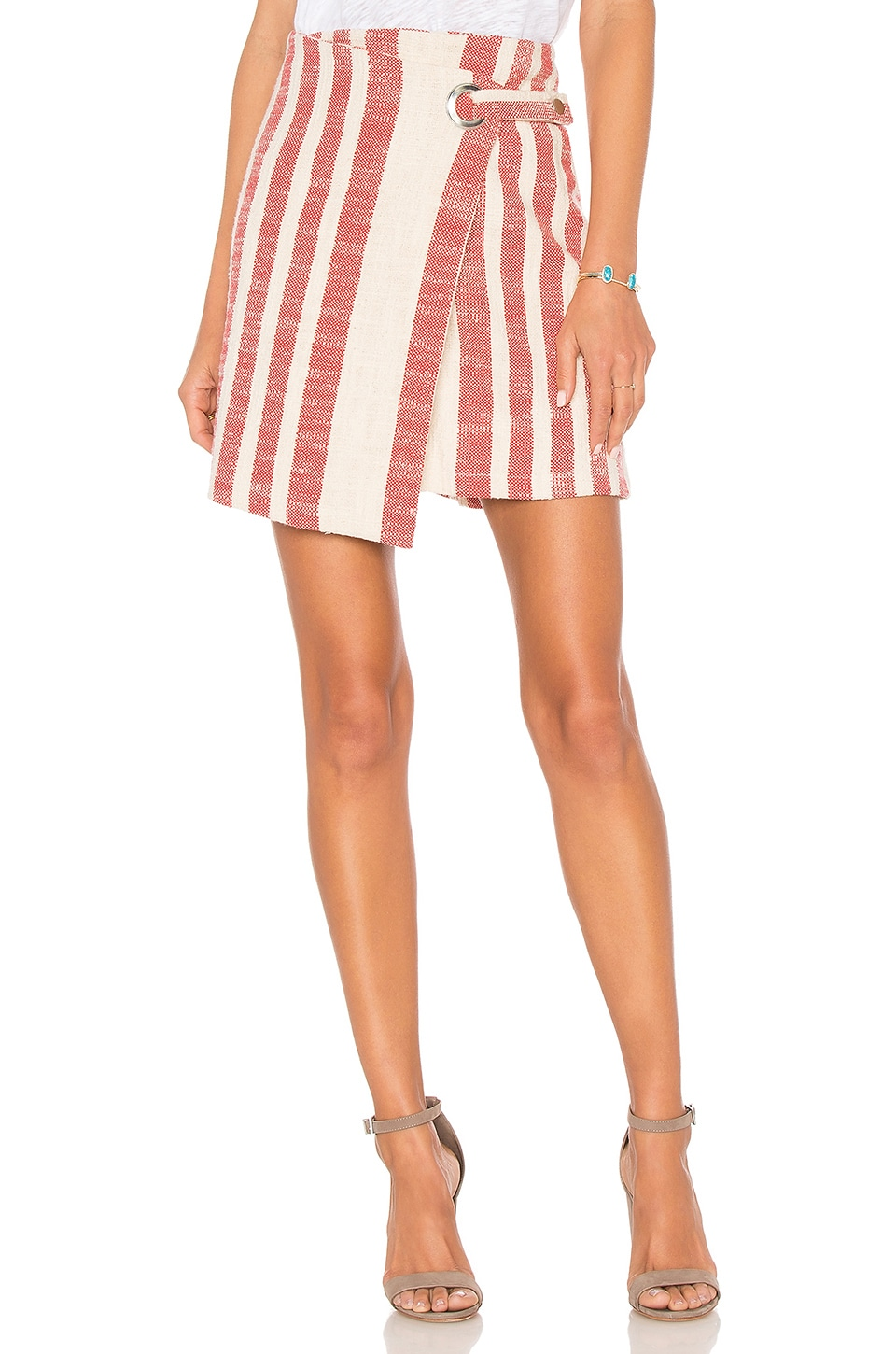 Free People It's A Wrap Skirt in Red