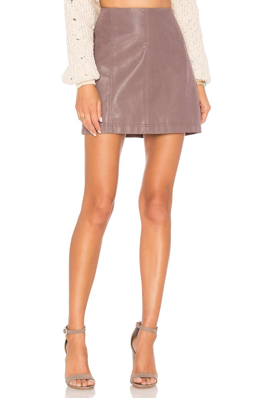 Free People Modern Femme Vegan Suede Mini Skirt in Mauve