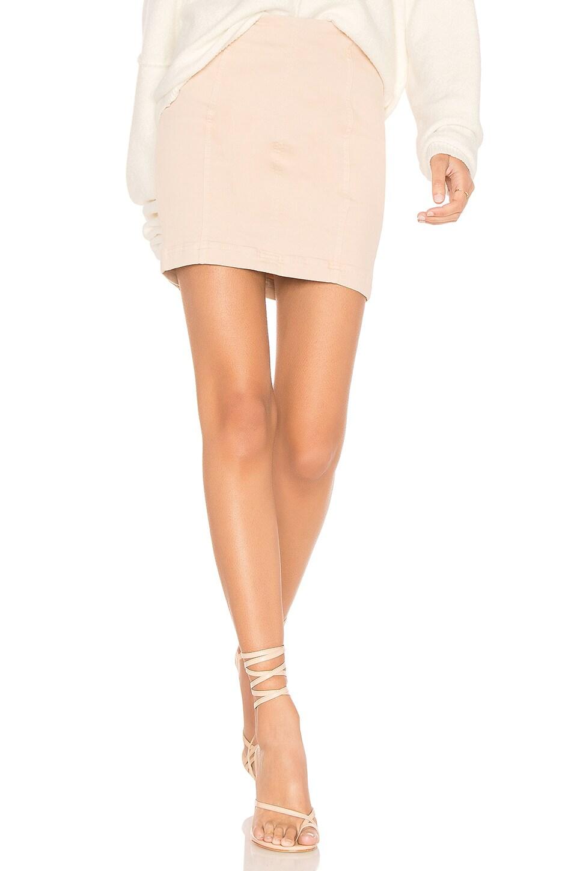 Free People Modern Femme Denim Mini Skirt in Stone