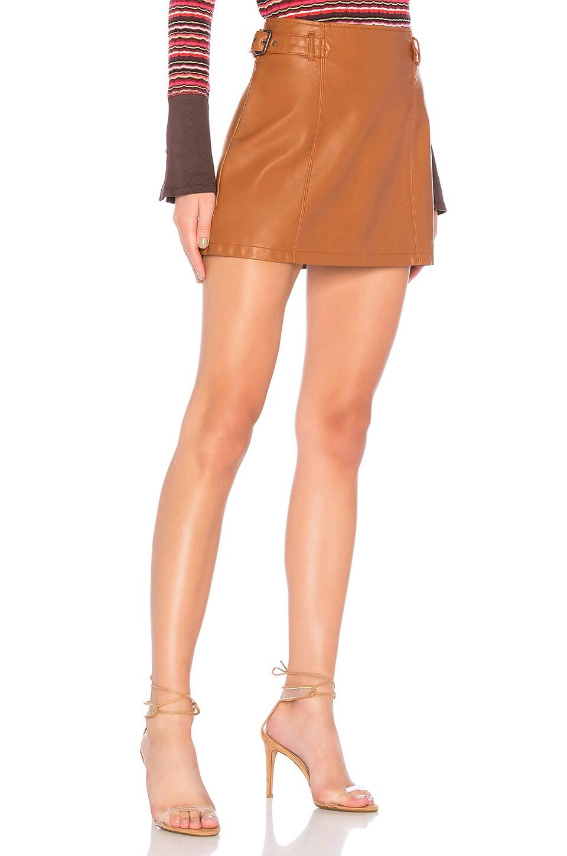 Free People Charli Vegan Skirt in Honey
