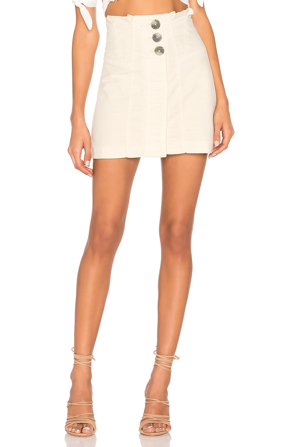 Free People Every Minute Every Hour Skirt in White