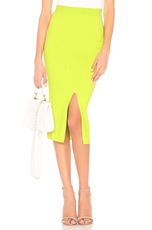 Free People Skyline Midi Skirt in Lime