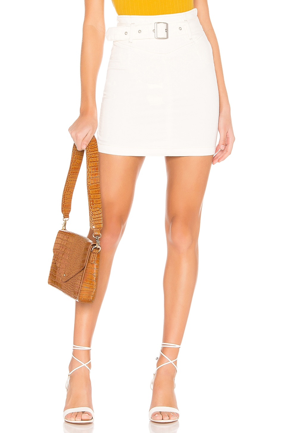 Free People Livin It Up Pencil Skirt in White