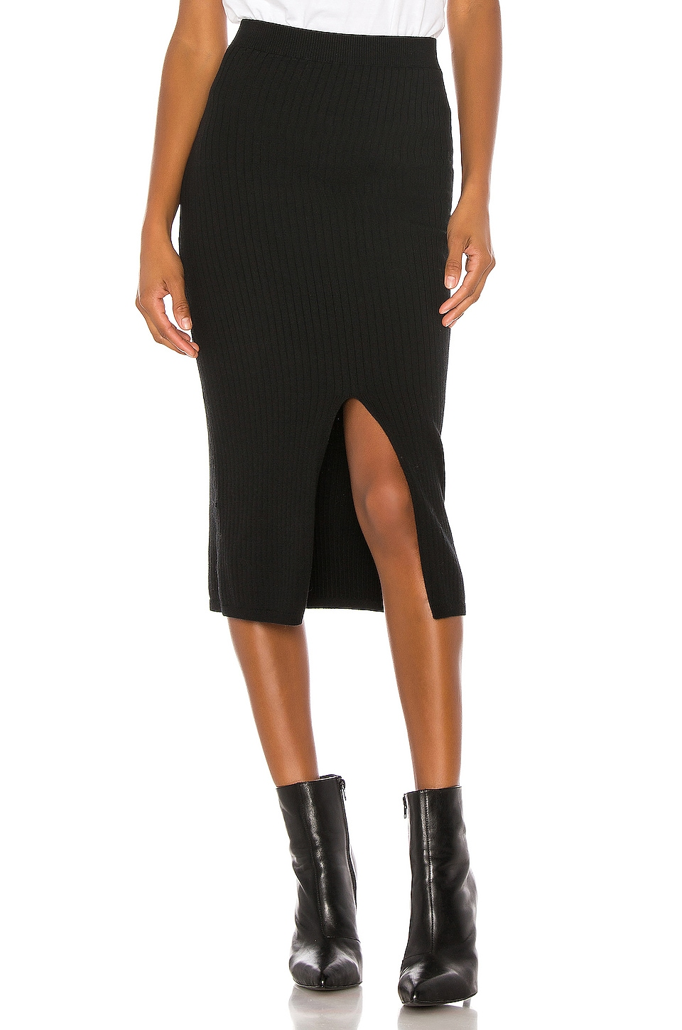 Free People Skyline Midi Skirt in Black
