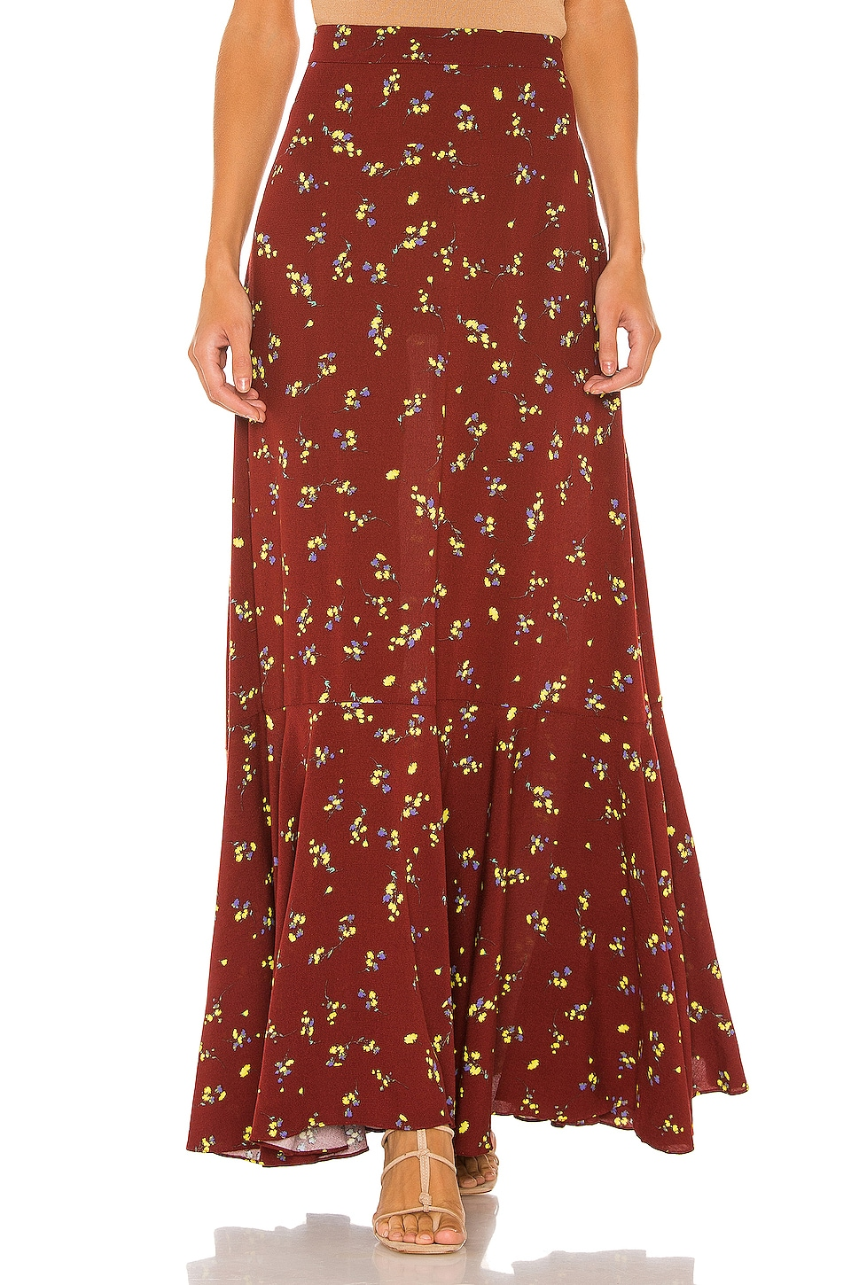 Free People Ruby's Forever Maxi Skirt in Brown