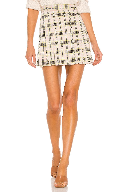 Free People Honey Pleated Skirt in Retro Sunshine Combo