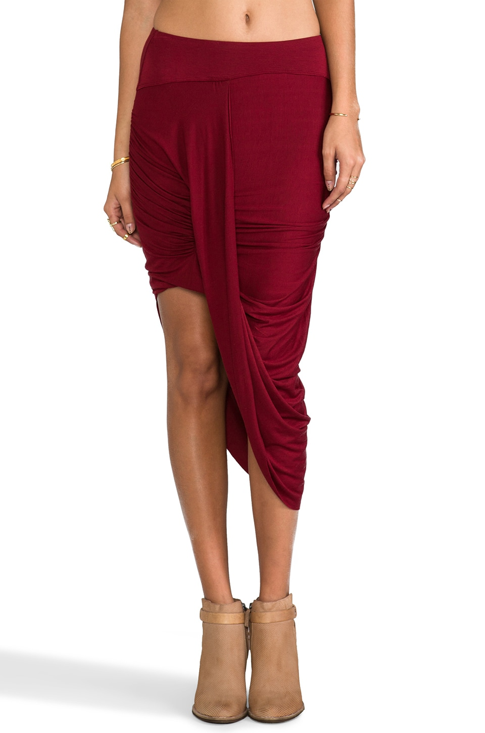 Free People Twist and Shout Skirt in Cranberry