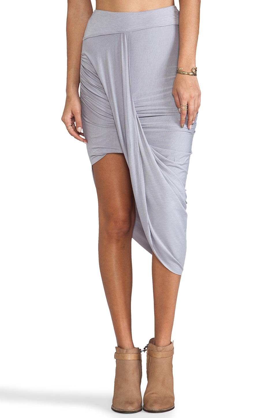 Free People Twist N Shout Skirt in Vapor Blue