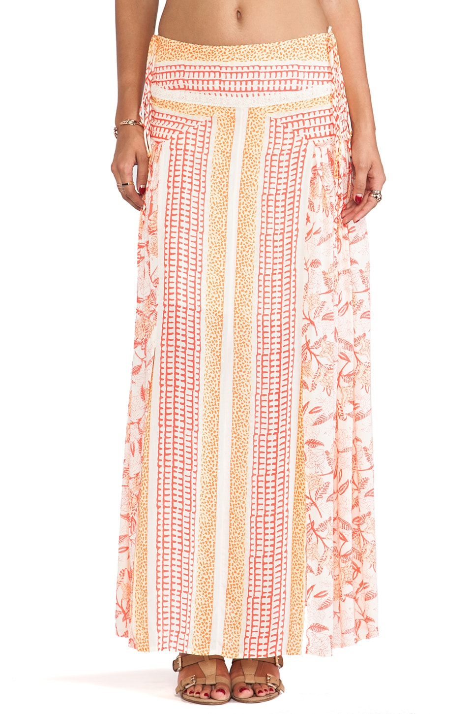Free People Squared Off Convertible Skirt in Festival Combo