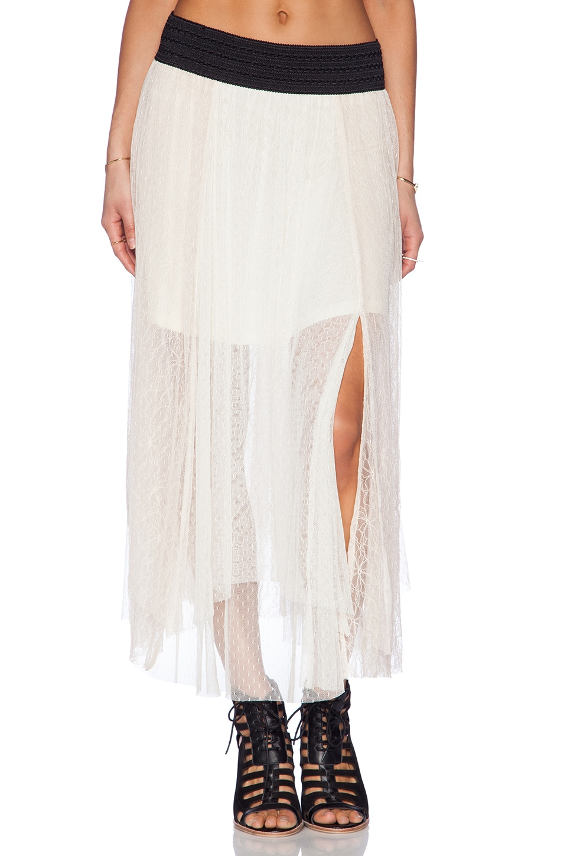 Free People Sugar Plum Tutu Skirt in Ivory Combo