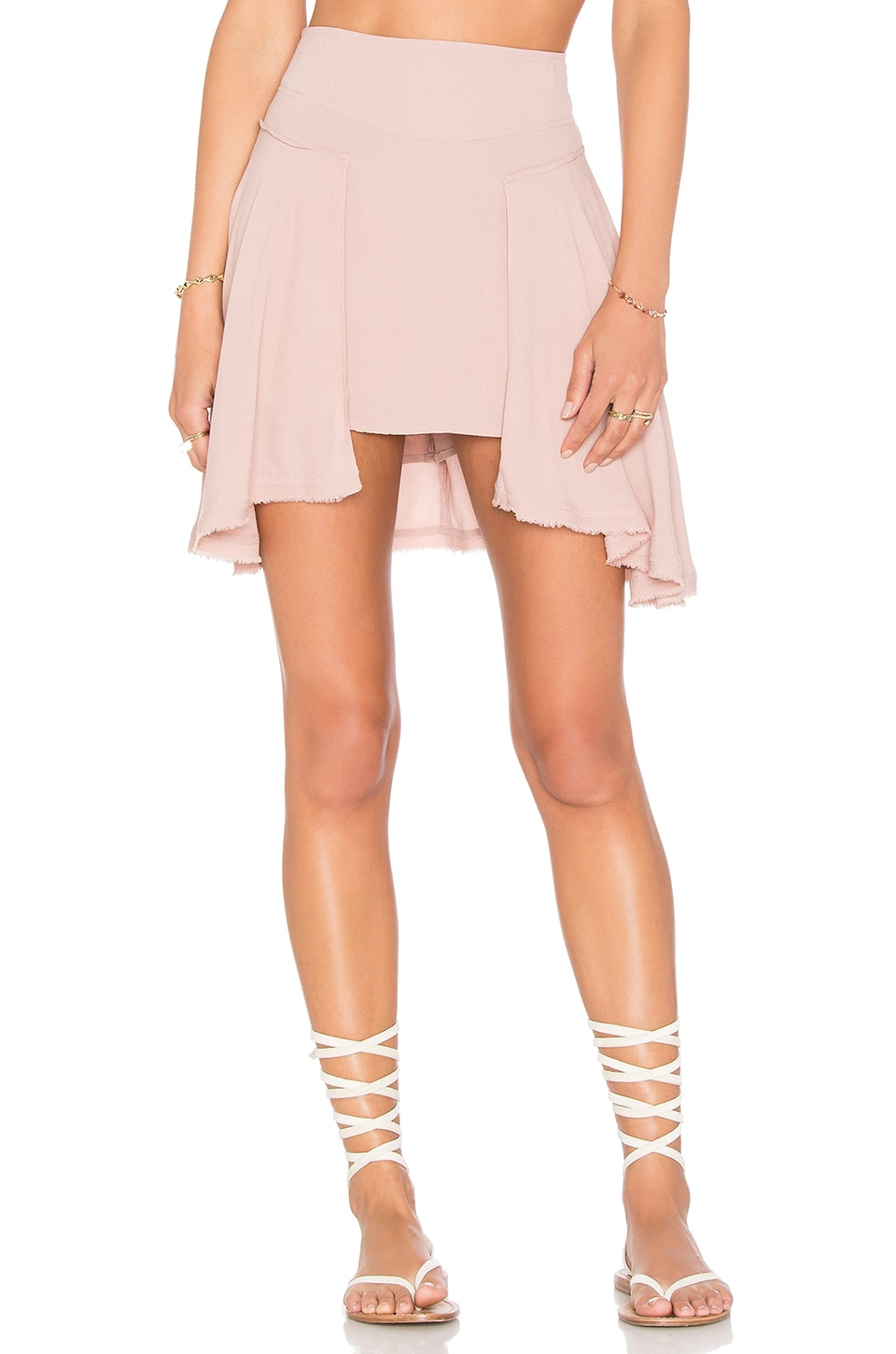 Free People New York Skirt in Pink