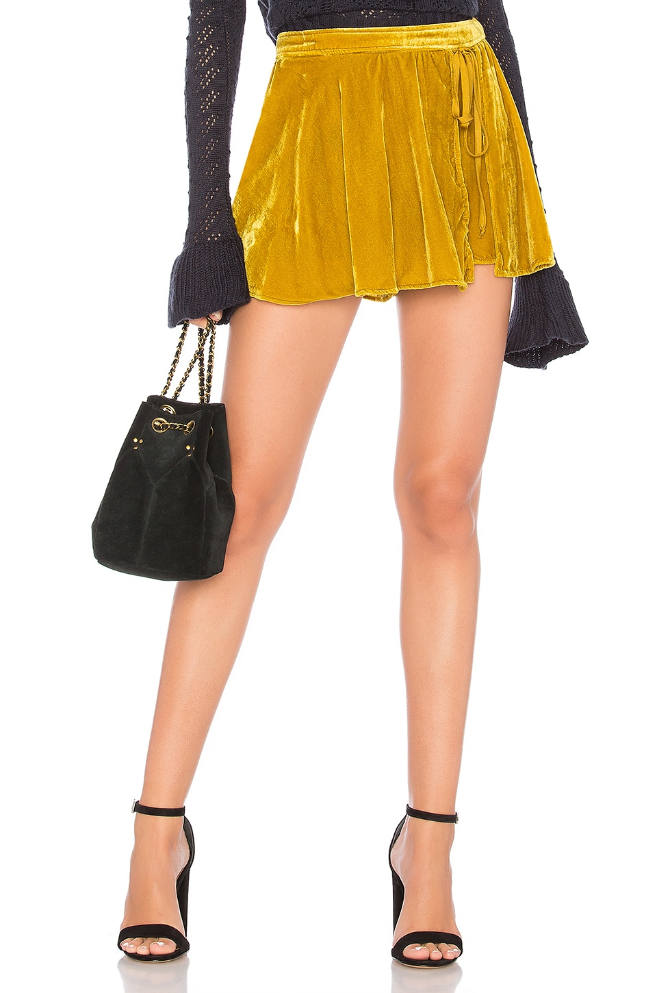 Free People Dance the Night Away Skort in Yellow Combo