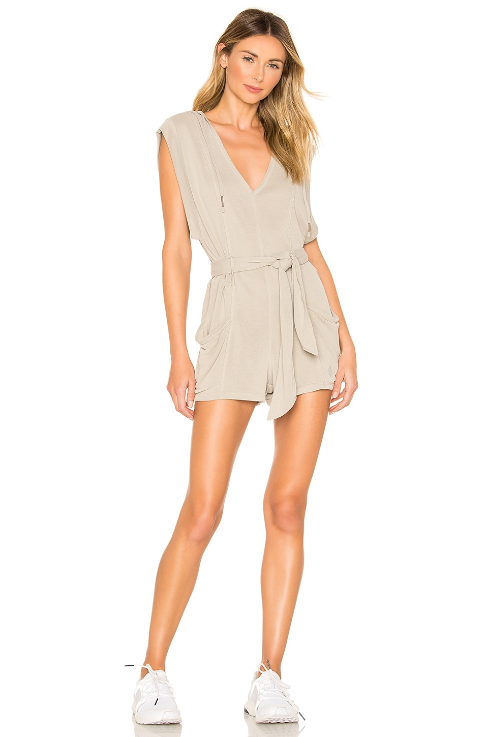 Free People Movement Chop It Up Onesie in Mushroom