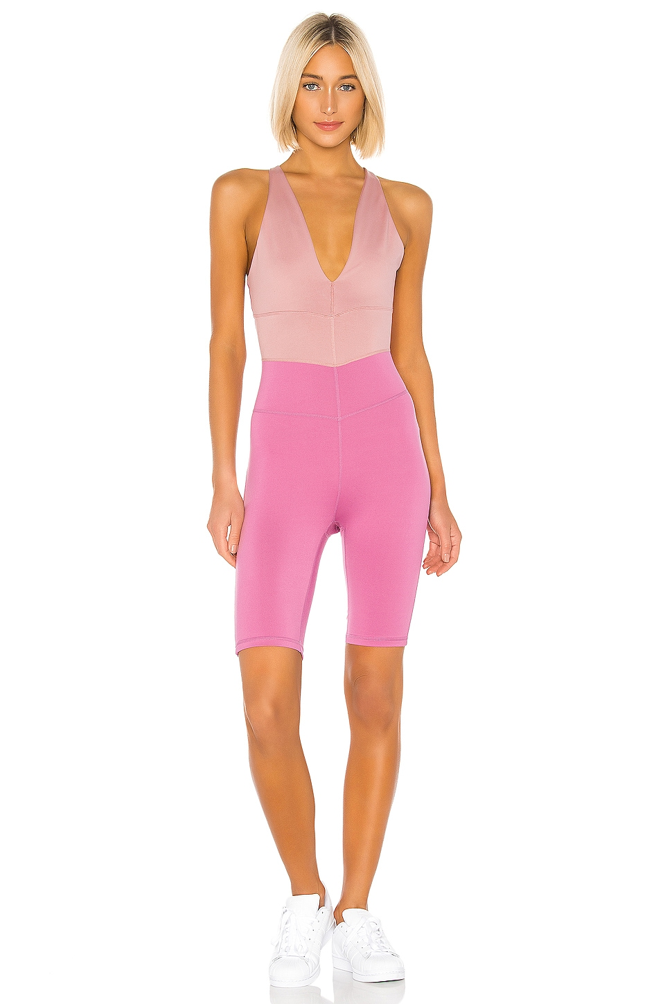 Free People X FP Movement Total Triumph One Piece in Mulberry