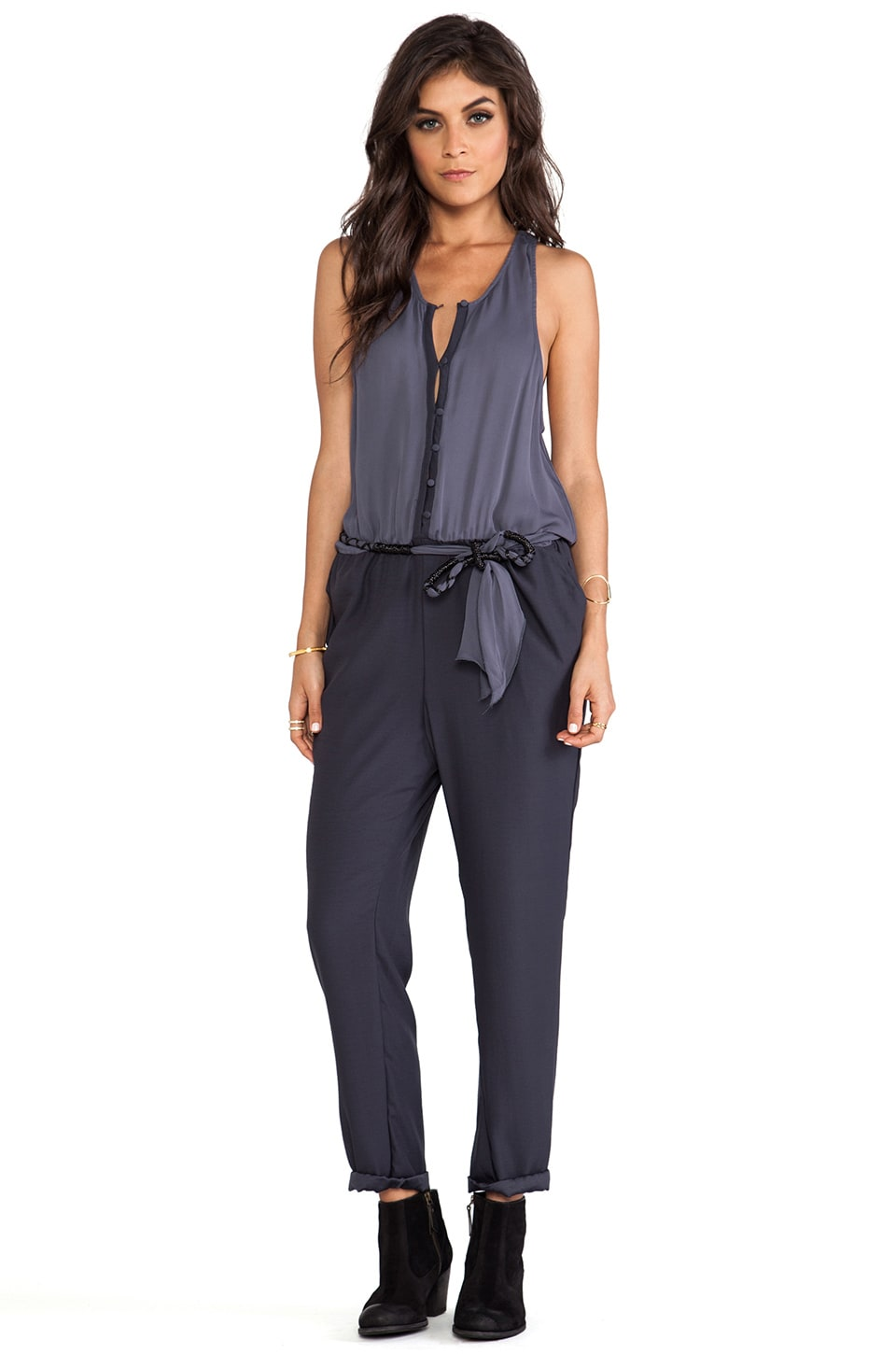 Free People Angelica Romper in Storm Blue