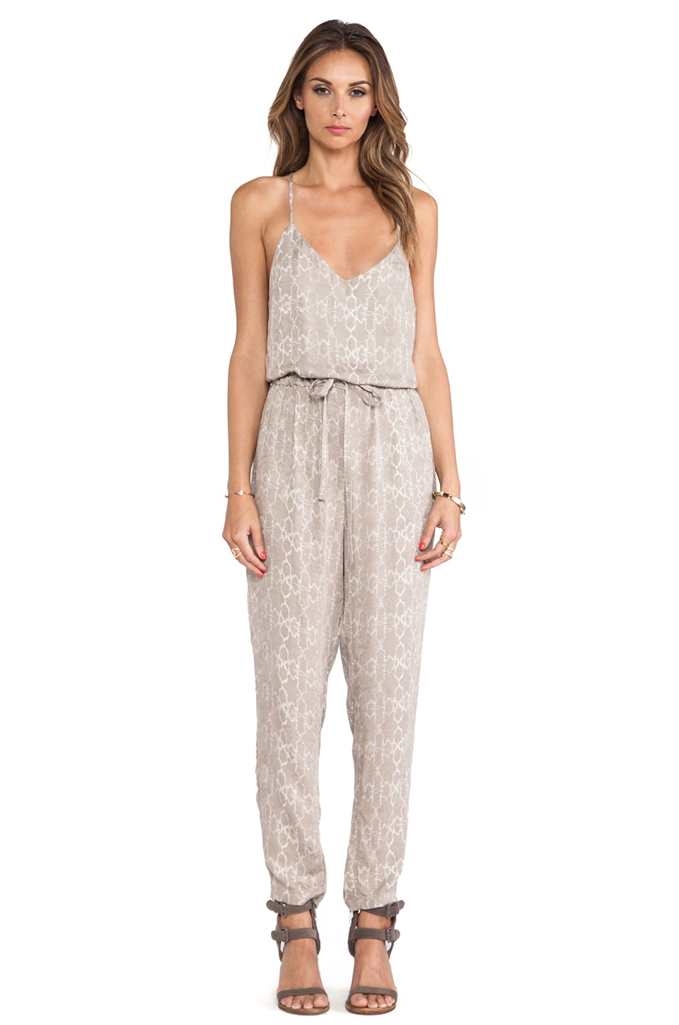 Free People Sunset Romper in Stone Combo