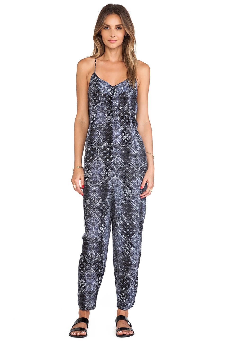 Free People Harem Romper in Indigo Combo
