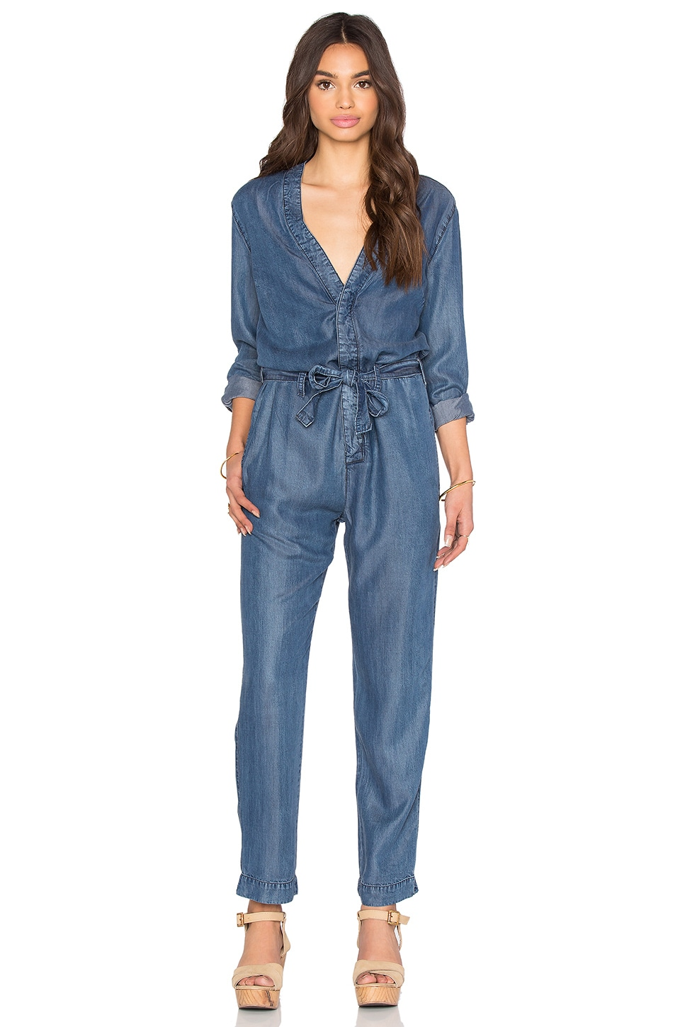 Free People Lou Denim Jumpsuit in Imperial