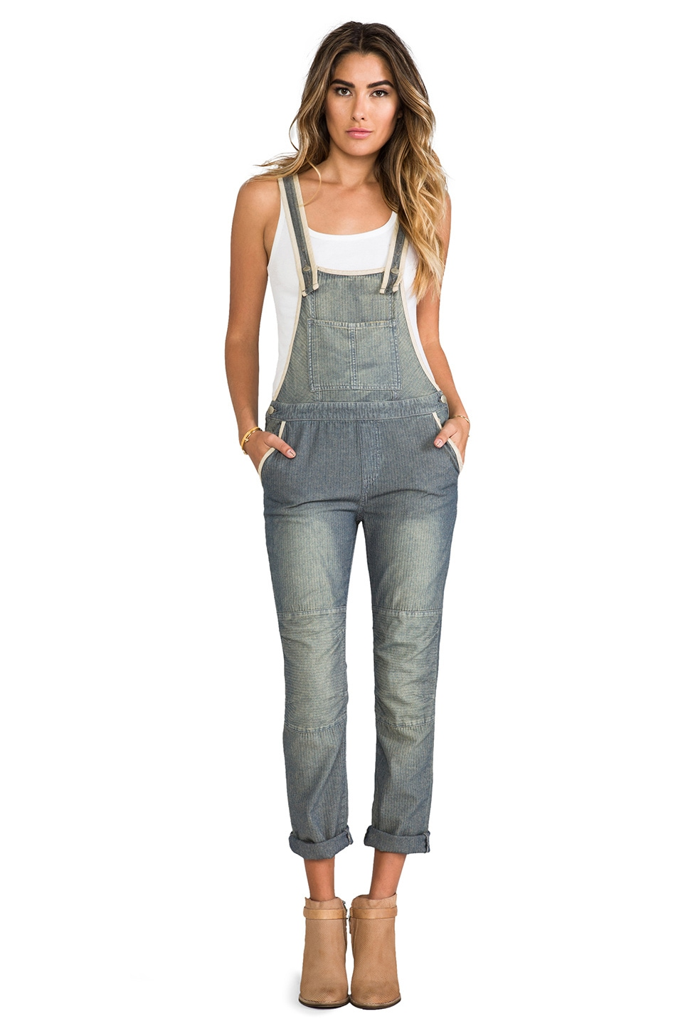 Free People Thomas Overall in Fennel