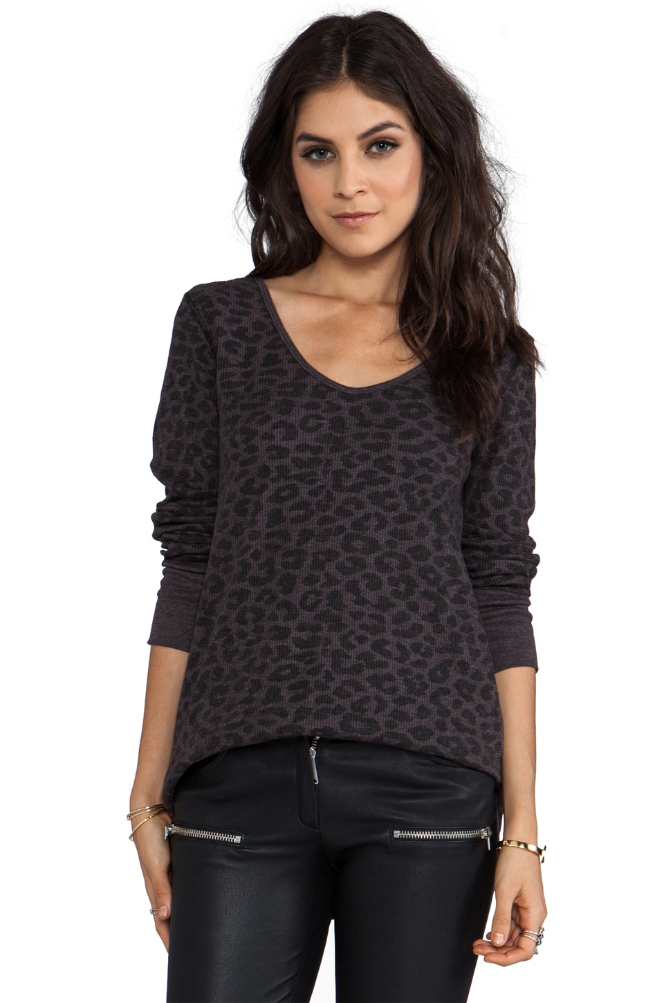 Free People Desperate Thermal in Leopard