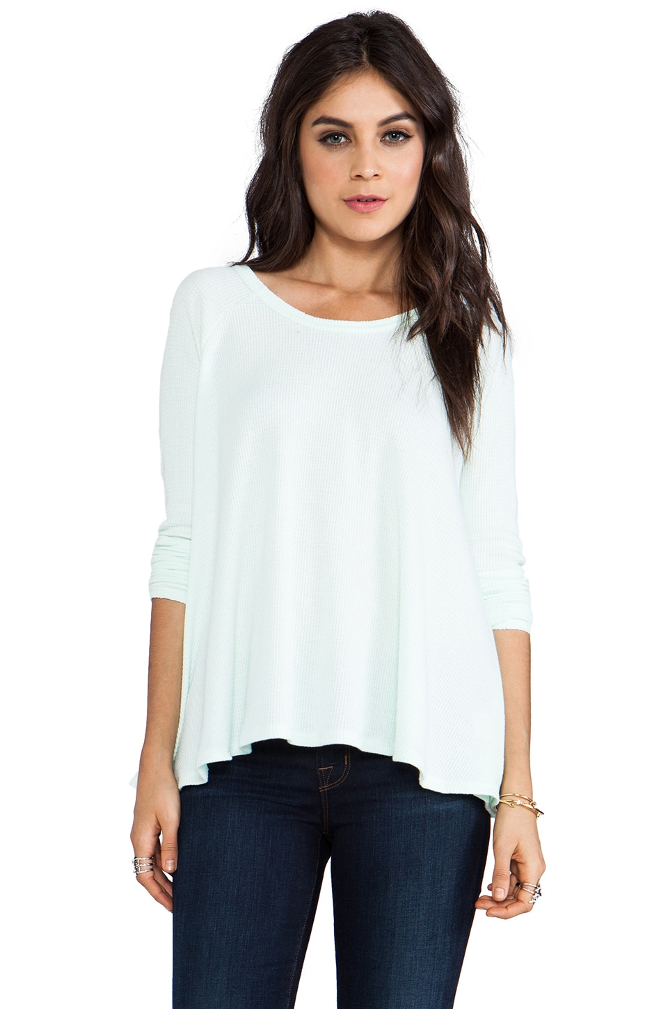 Free People Rockabilly Raglan Thermal in Mint