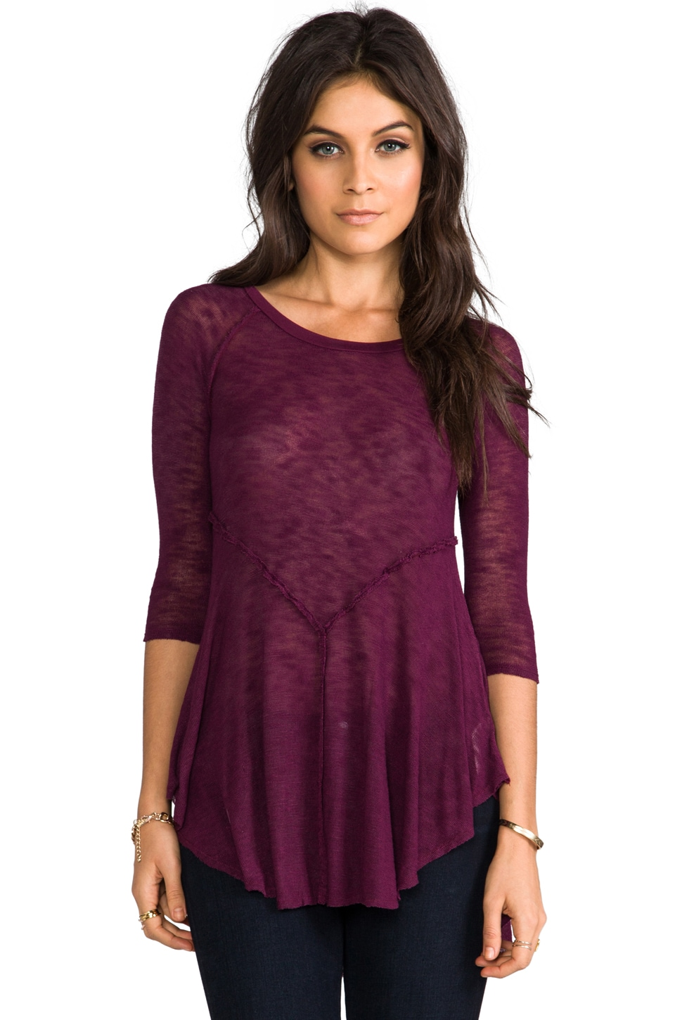 Free People Weekends Layering Top in Shadow Purple
