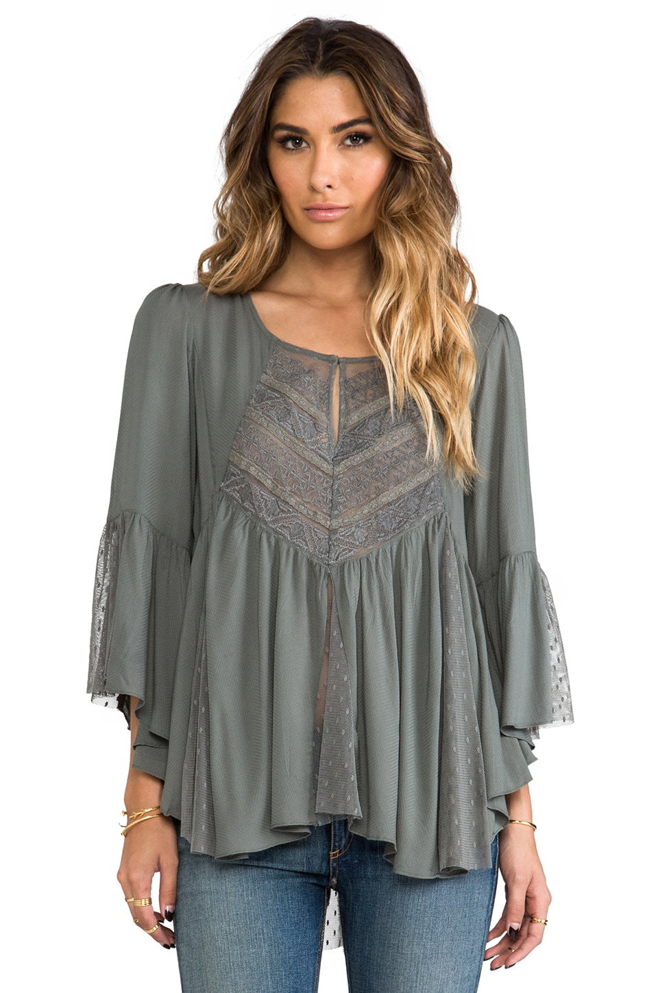 Free People Sweeter Emotion Top in Shark