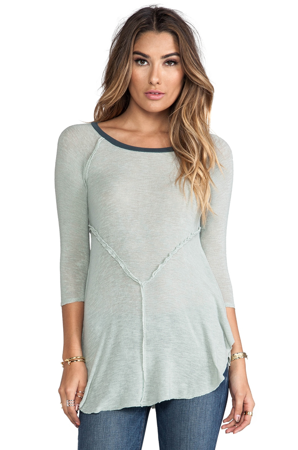 Free People Weekends Layering Top in Sea Spray